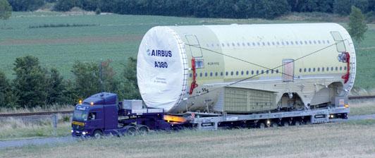 Transporte del A380