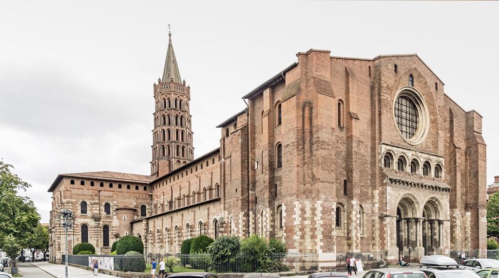 Basilique Saint-Sernin de Toulouse  - exposition ouest