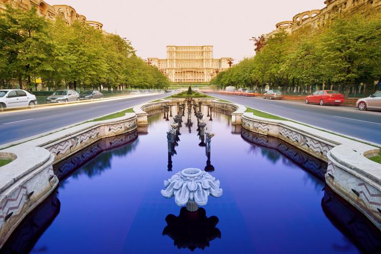 Bulevar de la Unificación en Bucarest